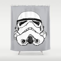 trooper Shower Curtains featuring Trooper  by Owen Lloyd
