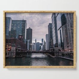 Chicago City Serving Tray