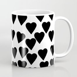 Hearts Black and White Coffee Mug
