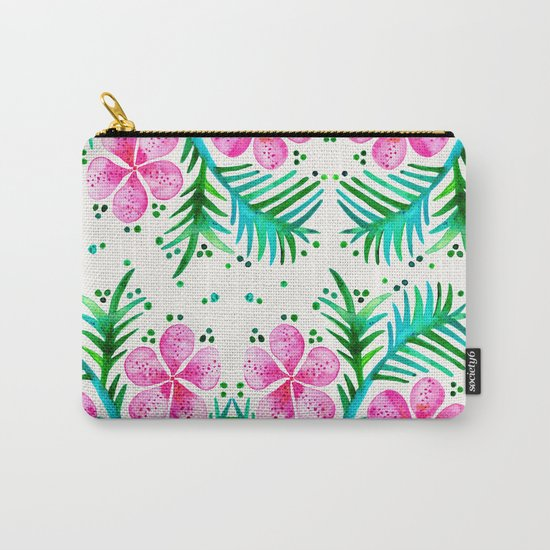 Orchid Bunch – Fuchsia & Green Palette Carry-All Pouch
