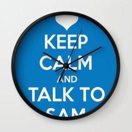 Seriously, talk to Sam! Wall Clock
