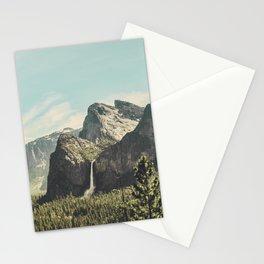 Yosemite Valley Waterfall Stationery Cards