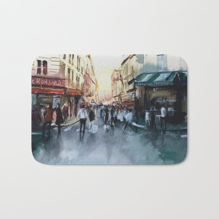 PARIS Street - Painting Bath Mat