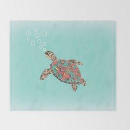 Cute Turtle Throw Blanket