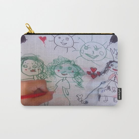 Me and my friends | Kids Drawing Carry-All Pouch