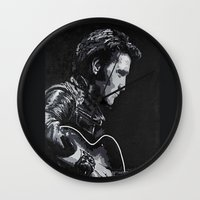 elvis Wall Clocks featuring Elvis by JeleataNicole