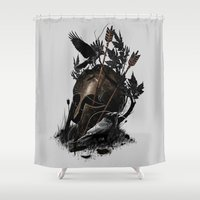 fall Shower Curtains featuring Legends Fall by nicebleed