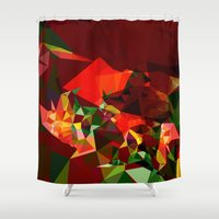 polygon Shower Curtains featuring polygon chaos by Matthias Hennig