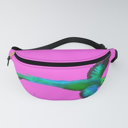 Painted Quetzal with Mexican Pink Fanny Pack