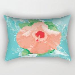 Hibiscus Bliss Rectangular Pillow