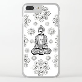 Buddha, HOME DECOR,with hand-painted Mandala Clouds,iPhone case,iPhone cover,iPhone skin,Laptop skin Clear iPhone Case