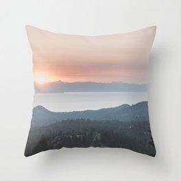 Mountain Top View Throw Pillow