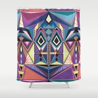 totem Shower Curtains featuring Totem by Naia Ceschin