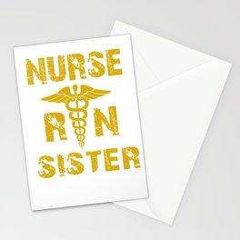 Sister registered nurse medical profession hospital Stationery Cards