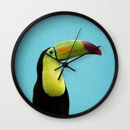 Toucan Bird - Blue Wall Clock