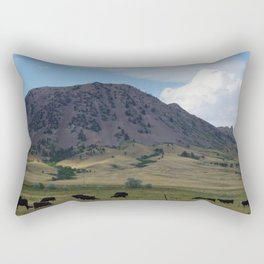 Cattle at Bear Butte Rectangular Pillow