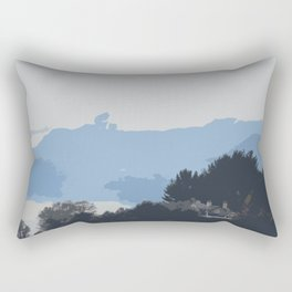 A house in the mountains Rectangular Pillow