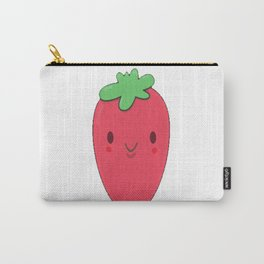 Cute Strawberry Pun Carry-All Pouch