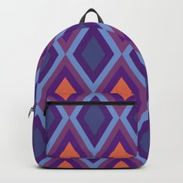 Purple And Blue Shade Diamond Geometric Patterns Backpack
