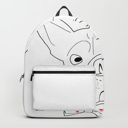 Bulldog Face Backpack