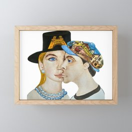 Paris is the Capital of Fashion and Love (Watercolour) Framed Mini Art Print