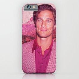 Matthew McConaughey Pink iPhone Case