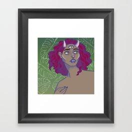 horned lady Framed Art Print