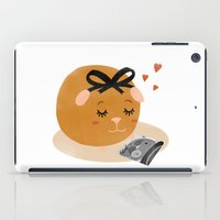guinea pig iPad Cases featuring Guinea Pig Portrait 1 by NdKf