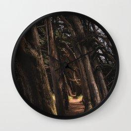Sea Ranch Tree Tunnel Printable Wall Art | California Beach Nature Ocean Coastal Travel Photography Print Wall Clock
