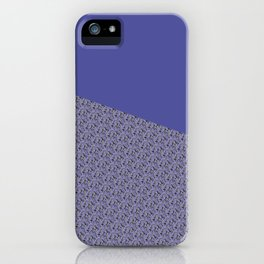 Purple Daisy pattern iPhone Case