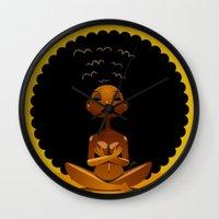 spiritual Wall Clocks featuring Spiritual AfroGirl by Pweety Sexxay