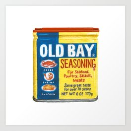 Old Bay Tin Baltimore Maryland Crab Art Print