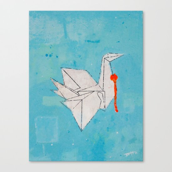 Paper Bird Canvas Print