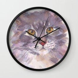 Tawny Blue Tabby Wall Clock