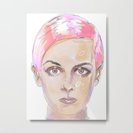 Girl Sketch 1 Metal Print