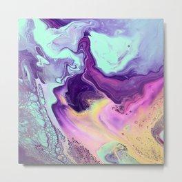 Liquid Pastels Metal Print