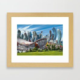 Downtown Calgary Skyline Framed Art Print