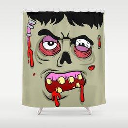 Cartoon Zombie face Shower Curtain