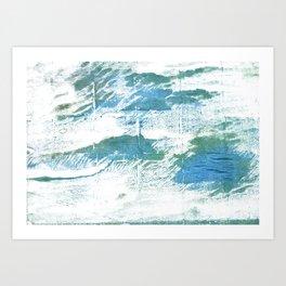 Mint cream watercolor Art Print