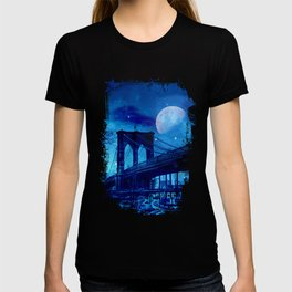 Full Moon Over Brooklyn Bridge T-shirt