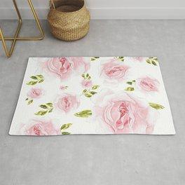 Feminine pink flowers pattern Rug