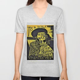 Pablo Picasso - Vallavris - Digital Remastered Edition Unisex V-Neck