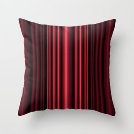 Red 3D Stripes Throw Pillow