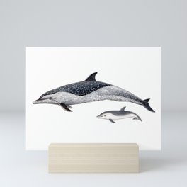 Pantropical spotted dolphin Mini Art Print