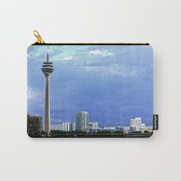 Dusseldorf with TV-Tower, Gehry-Buildings, River Rhine and Trees Carry-All Pouch