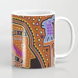 Kuna Indian Man in Canoe Coffee Mug