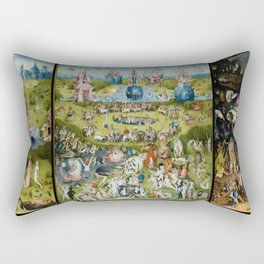 The Garden of Earthly Delights by Hieronymus Bosch (1490-1510) Rectangular Pillow