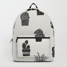 Southwestern Stamped Potted Cactus + Succulents Backpack