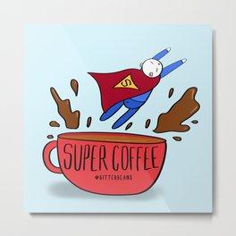 Superman coffee! Metal Print