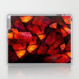 Fragments Of Fire - Abstract, geometric, fragmented pattern Laptop & iPad Skin